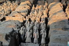 Terrracota Army. The Terracotta Army is a collection of terracotta sculptures depicting the armies of Qin Shi Huang, the first Emperor of China Royalty Free Stock Image