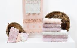 полотенце terry ткани мягкое Стоковое фото RF