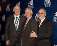 Terry Bradshaw, Nick Buoniconti, and Emilio Estefan. Hall of arrive Fame quarterback Terry Bradshaw, former NFL all-star Nick Buoniconti, and pop music performer Royalty Free Stock Image