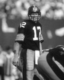Terry Bradshaw. Pittsburgh Steelers QB Terry Bradshaw.  (image taken from b&w negative Royalty Free Stock Photography