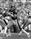 Terry Bradshaw. Pittsburgh Steelers QB Terry Bradshaw, #12.  (Image taken from the B&W negative Royalty Free Stock Photo