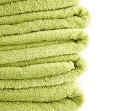 Terry cloth bath towel composition Stock Image