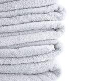 Terry cloth bath towel composition Royalty Free Stock Photos