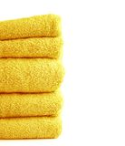 Terry cloth bath towel composition Royalty Free Stock Photo