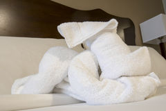 Terry cloth towel dog Stock Image
