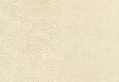 Terry Cloth Towel Fabric en ivoire photographie stock libre de droits