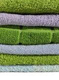 Terry cloth towels pile Royalty Free Stock Photo