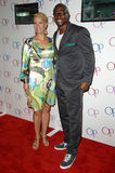 Terry Crews. And wife Rebecca  at the OP Clothing Launch Party. Private Residence, Beverly Hills, CA. 06-03-08 Royalty Free Stock Photography