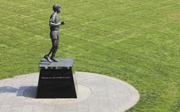 Terry Fox statue at Mile 0 Park in Victoria Canada Stock Photos