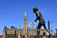 Terry Fox statue in Ottawa Stock Photo
