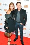 Terry Notary en Madeleine Barwén Trollvik ` de Vierkante `-première bij Internationaal de Filmfestival van Toronto royalty-vrije stock foto
