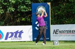 Terry Pilkadaris dans le championnat 2015 de golf de la Thaïlande Image stock