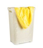 Terry towels in a laundry basket Stock Image