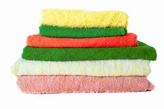 Terry Towels on white Royalty Free Stock Image
