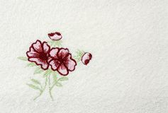 Terry white  flower background Royalty Free Stock Photography