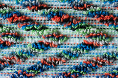 Terrycloth pattern, macro. Close up of colorful diagonal frottee pattern Royalty Free Stock Images