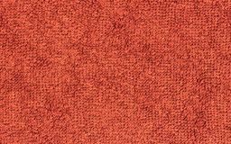 Terrycloth red, closeup fabric  texture background Stock Photo