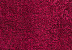 Terrycloth red, closeup fabric texture background. High resoluti Stock Images