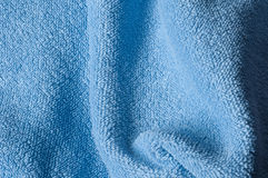 Terrycloth texture. Close up of light blue terrycloth Royalty Free Stock Image