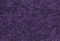 Terrycloth violet, closeup fabric texture background. High resol Stock Image