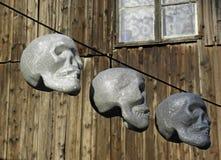 Terryfying funny skulls, Halloween's instalation, Zagreb 2015., 1 Royalty Free Stock Photo