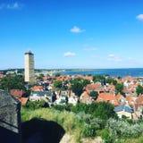 Terschellings-Sommerleuchtturm Stockfotografie