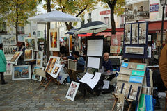 Tertre广场 巴黎 图库摄影