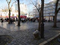 Tertre-Quadrat in Montmartre, Paris stockbilder