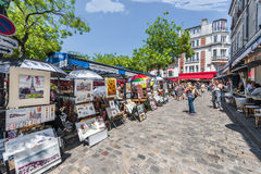 At the Tertre Square Royalty Free Stock Image