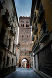 Teruel, Aragon, Spain. Teruel is a town in Aragon, located in eastern Spain, important for the Mudéjar Architecture, San Martin Tower Royalty Free Stock Photography