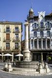 Teruel EL Torico πηγή στην πλατεία Plaza Carlos Castel Στοκ Εικόνες