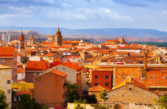 Teruel from hill in summer day Stock Photos