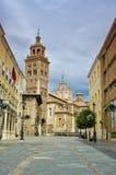 Teruel historisk mitt Catedral de Santa Maria de Teruel i den Aragon regionen Arkivbild