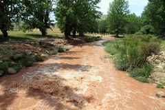 Teruel van de rivier provincie Aragon Spanje Royalty-vrije Stock Foto