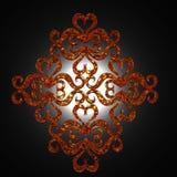 Terug aangestoken ornament Royalty-vrije Stock Fotografie