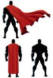 Terug Geïsoleerde Superhero Royalty-vrije Stock Afbeelding