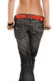 Terug in jeans Stock Foto