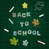 Terug naar de Achtergrond van de School (EPS+JPG) Stock Afbeeldingen