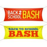Terug naar de banners van de Schooldreun Stock Fotografie