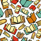 Terug naar de boekenpatroon van de School Royalty-vrije Stock Foto's