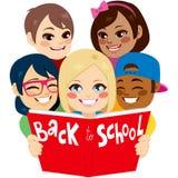 Terug naar de Kinderen van het Schoolboek royalty-vrije illustratie