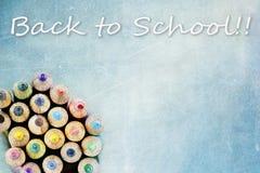 Terug naar de Potloden van de Kleur van de School Royalty-vrije Stock Afbeelding