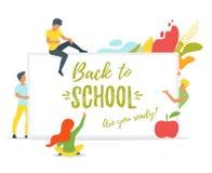 Terug naar het Concept van de School Stock Foto's