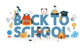 Terug naar het Concept van de School stock illustratie