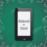 Terug naar het Ontwerp van de Schoolverkoop Mobiele telefoon en krabbels Royalty-vrije Stock Foto