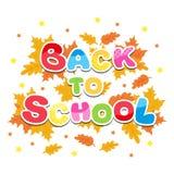 Terug naar multicolored brieven van de schoolinschrijving Stock Foto's