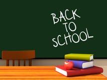 Terug naar school 02 stock illustratie