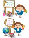 Terug naar school Stock Foto's