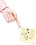Terug naar school! royalty-vrije stock afbeeldingen