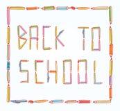 Terug naar school, Banner, vectorillustratie Royalty-vrije Stock Foto's